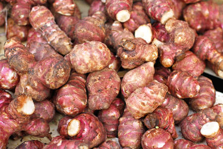 Big bunch of Jerusalem artichokes sunroot vegetable Stock Photo - 16246995