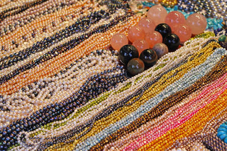 Natural pearl drops necklaces in various colors Stock Photo - 16325486