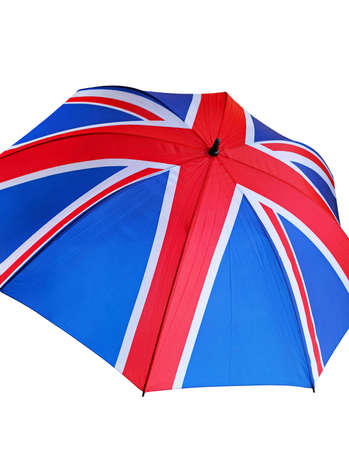 United kingdom flag at Union Jack umbrella Stock Photo - 16325528