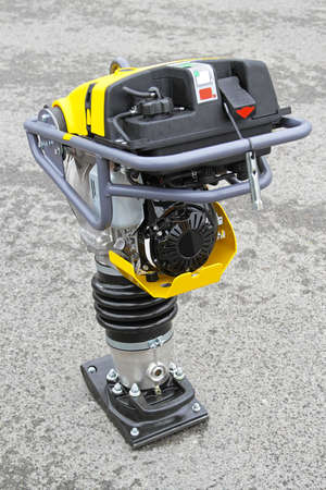 compacting: Jumping Jack vibratory plate compacting construction equipment