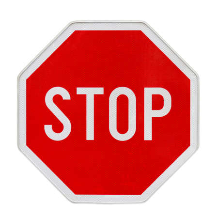 Stop traffic sign with new retroreflective fine surface Stock Photo - 16383136
