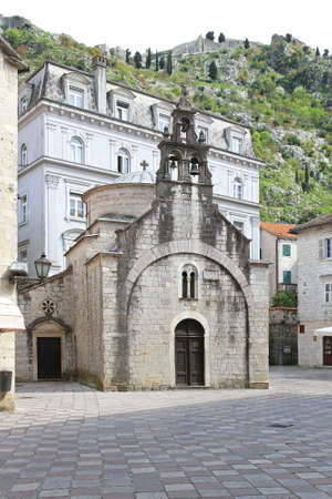 kotor: Church of Saint Luka in old Kotor Stock Photo