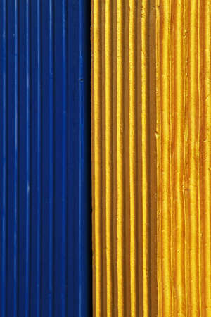 Gold and blue column architecture detail Stock Photo - 16574460