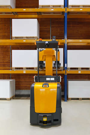 Driverless forklift truck in modern automated warehouse Stock Photo - 16574464