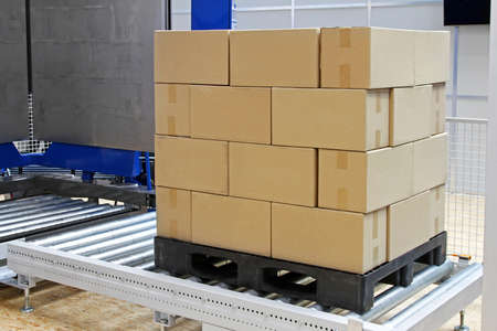 Cardboard boxes at transport pallet package Stock Photo - 16574463
