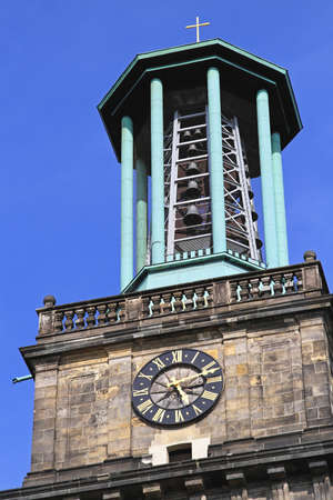 Tower clock and bells at Aegidienkirche church in Hannover Stock Photo - 16584702