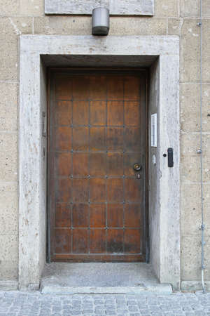 Closed strong door made from copper metal Stock Photo - 16584742