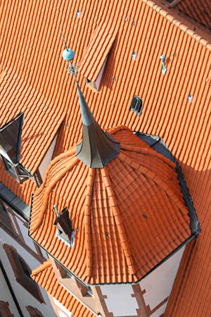Aerial view of rooftop dome with spire Stock Photo - 16584712