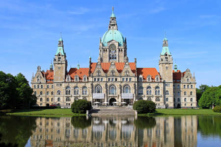 New Town Hall building in Hannover Germany Stock Photo