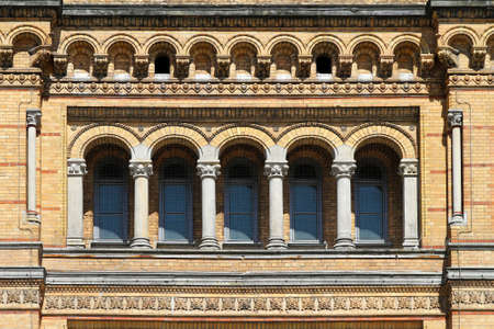 Arch windows at main rail station in Hanover Stock Photo - 16729308