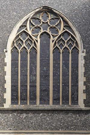 gothic window: Stained glass window at Saint James of Paddington church Stock Photo