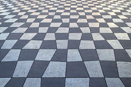 Checkered pattern tiles at Nice city square Stock Photo - 16617408
