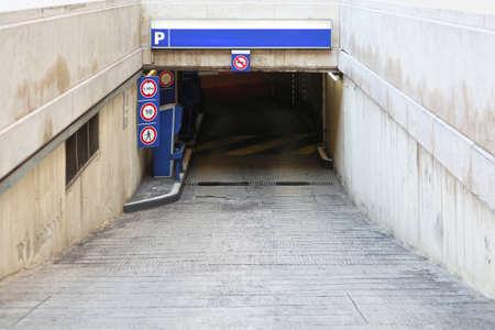 Ramp access  to underground public parking garage Stock Photo - 16648339