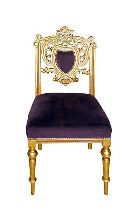 Gold antique chair isolated Stock Photo - 16686468