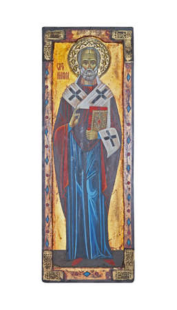 Icon of popular Christian religion Saint Nicolas Stock Photo - 16686500