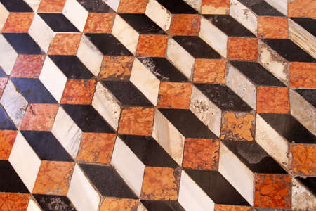 Medieval marble floor with 3d tile cubes illusion Stock Photo - 16723790