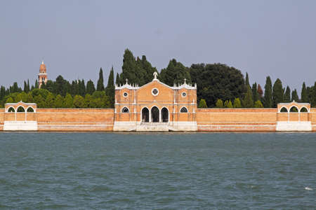 Venetian graveyard at San Michele island in Lagoon Stock Photo - 16723791