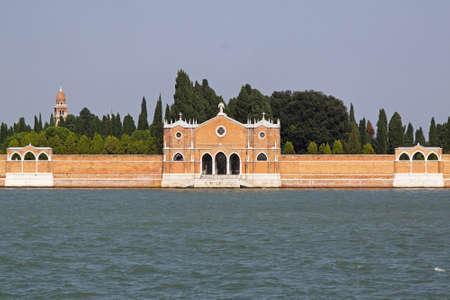 Venetian graveyard at San Michele island in Lagoon Stock Photo - 16723791