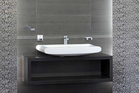 Bathroom sink and inter in minimalist style Stock Photo - 16732516
