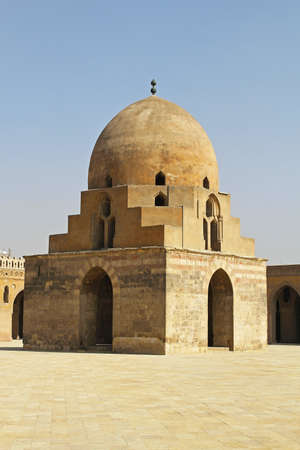 Dome containing the ablutions fountain in courtyard of the Ibn Tulun Mosque in Cairo Stock Photo - 16875769