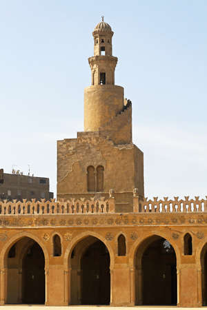 Famous spiral minaret of Ibn Tulun Mosque in Cairo Stock Photo - 16875773