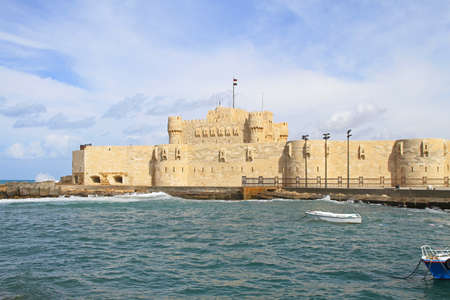 the citadel: Cittadella di Qaitbay a Alexandria Bay Egitto