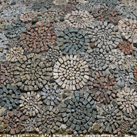 alexandria egypt: Abstract circles mosaic made from small stones