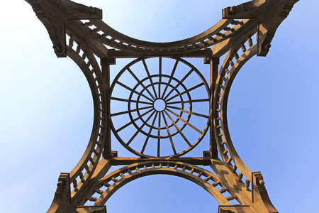 Bridge structure at Roda island in Cairo Stock Photo - 16964040