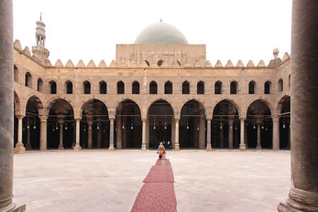 corridors: Mosque courtyard with arcaded corridors at Citadel in Cairo