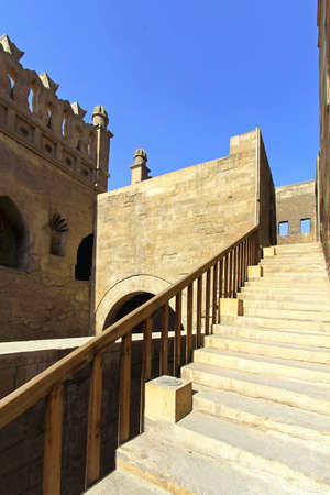 ibn: Stairway to tower of Ibn Tulun Mosque in Cairo