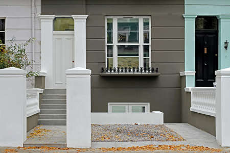 Newly renovated house exterior with fresh white paint Stock Photo - 17036830