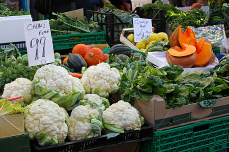 Farmers market stall in London with organic vegetables Stock Photo - 17048708