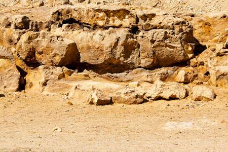 Rocks in desert near pyramids in Egypt Stock Photo - 17094490