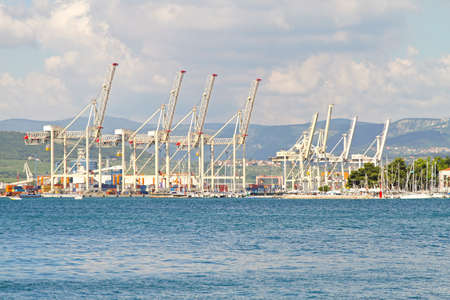 Big cranes in port of Koper in Slovenia Stock Photo - 17094483