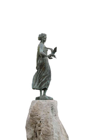 Statue of Maiden with the seagull in Opatija Stock Photo - 17094481