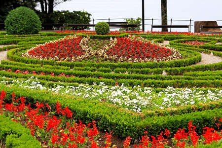 Big flower park with sea view in Opatija Stock Photo - 17094489