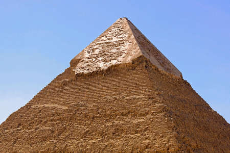 Top of Khafre pyramid at sunny day Stock Photo - 17094484