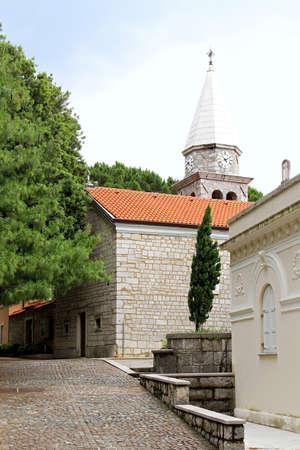catholicity: St  James church exterior in Opatija Croatia Stock Photo