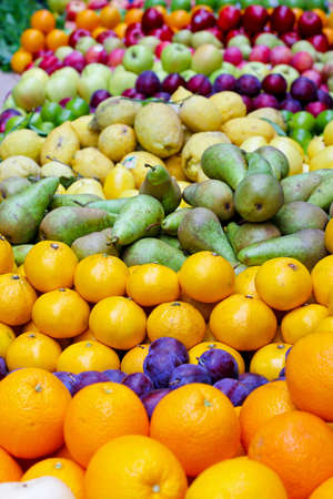 Big assortment of fresh organically grown fruits Stock Photo - 17123487