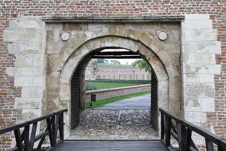 Old arch gate entrance in medieval fort Stock Photo - 17150792