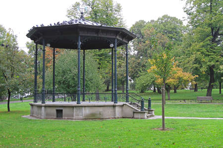 Old style gazebo structure in green park Stock Photo - 17150781