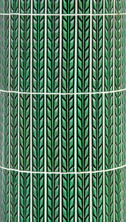 Retro green ceramic tiles with leaves ornament Stock Photo - 17231572