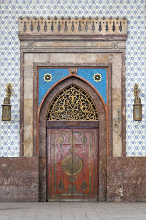 Medieval door at Cairo railway station Ramses Stock Photo - 17249593