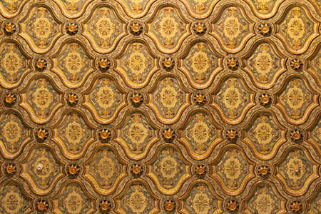 Luxuus golden ceiling pattern in Cairo Egypt Stock Photo - 17249596