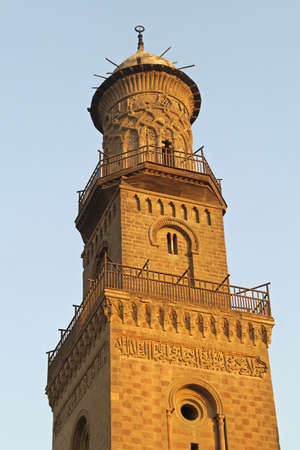 Minaret of El Nasir Mosque at Citadel in Cairo Stock Photo - 17249592