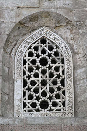 Arch window with Islamic pattren at Mosque Stock Photo - 17249590