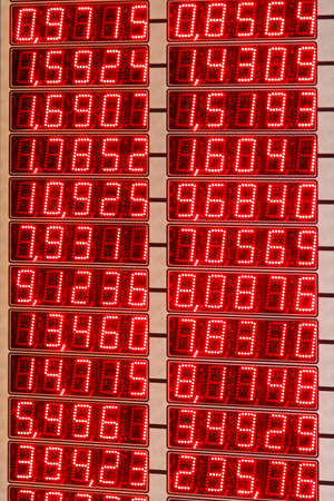 Red LED Numbers of Electronic Exchange Rate Board Stock Photo - 17338719