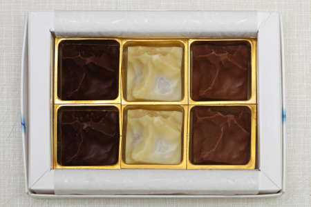 Dark milk and white chocolates in gift box Stock Photo - 17690573