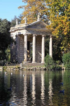 aesculapius: Esculapio tempio nel Parco di Villa Borghese di Roma