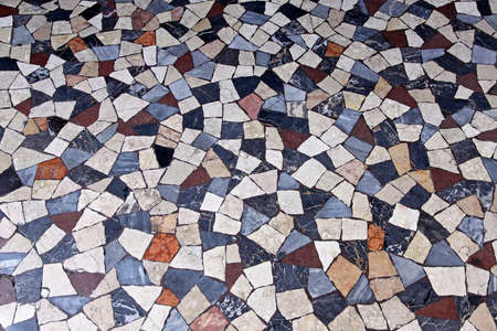 Terrazzo marble mosaic tiles from medieval Rome photo